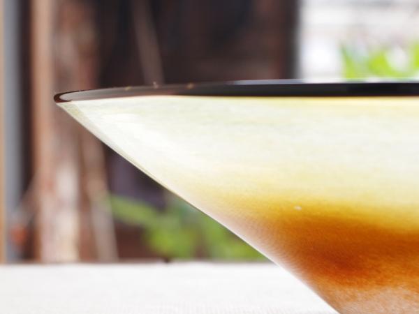 kasumi bowl L brownxyellow-3