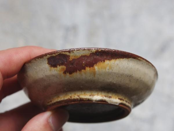 志村和晃 鉄絵 花文豆皿-4