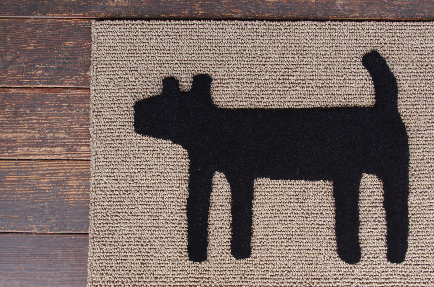 F:style doormat HOUSE blk-1