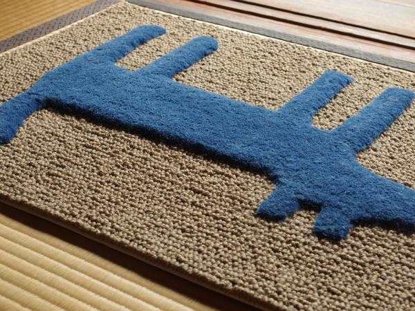 F:style doormat HOUSE blu-3