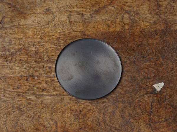 銅のコースター 黒銅-1