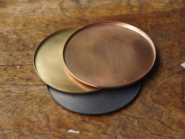 銅のコースター 黒銅-5