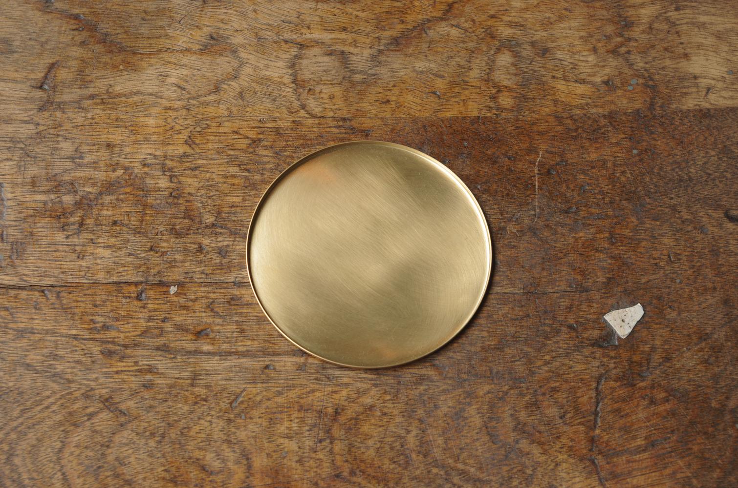 銅のコースター 真鍮-1