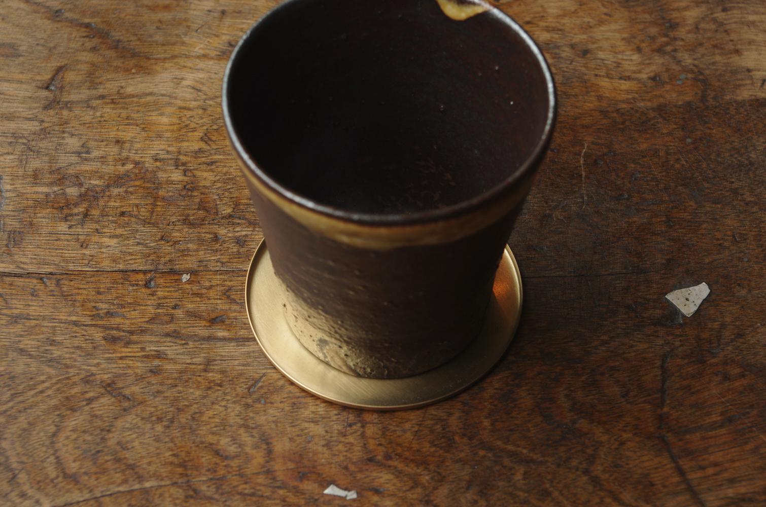 銅のコースター 真鍮-3