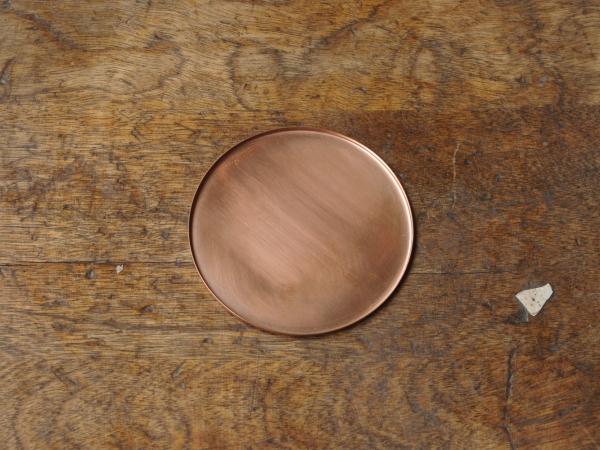 銅のコースター 素銅-1