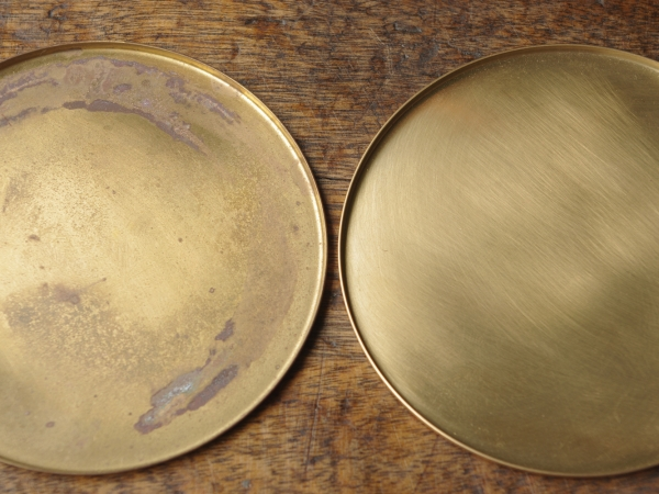 銅のコースター 真鍮-4